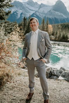 Craig and Caitlin's Cornerstone Theater Wedding in Canmore was a day of perfection. There was really no words to describe how beautiful and emotion filled the day was. Groom Wear, Groom Attire, David Sutcliffe, Vanessa Marcil, Theatre Wedding, Groom Style, How Beautiful, Fall Wedding, Photographers