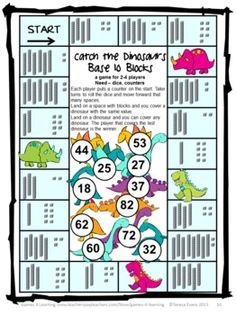Catch the Dinosaurs Place Value Game by Games 4 Learning - This is ...