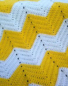 Chevron Baby Blanket Free Crochet Pattern