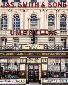JAS. SMITH & SONS UMBRELLAS ~ London