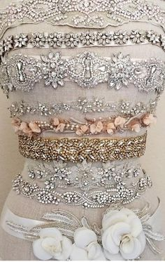 Gold Leaves Art Deco Belt - IVY - In Gold or Silver