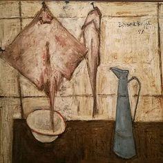 Bernard Buffet, une de ses jolies natures mortes visible en ce moment au MAM. Notre avis sur l'expo sur le blog! www.rêve familier.com #buffet #naturemorte #raie #museedartmoderne #MAM #paris #musee #peinture #painting #revefamilier