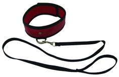 Sex and Mischief Red Leash and Collar offers a soft red sex collar that fastens securely with studs and connects to a strong nylon leash with a sturdy D-ring. Easy on easy off for safety and comfort. Leash extends to 48 inches. $9 - https://www.thrillsfulfilled.com/product/sex-and-mischief-red-leash-and-collar/