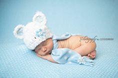 Newborn Bear Hat  Polar Bear Photography by whimsylaneboutique, $32.00