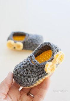 Piper Jane Baby Shoes | AllFreeCrochet.com