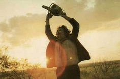 The Texas Chainsaw Massacre - Leatherface in the sunset.