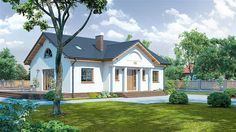 projekt Chmielów KRP1189 Home Fashion, Mansions, House Styles, Home Decor, Projects, Decoration Home, Manor Houses, Room Decor, Villas