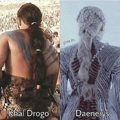 Khal Drogo and Daenerys hair braids Game of Thrones Daenerys of House Targaryen,. - Game of Thrones - Daenerys Targaryen, Daenerys And Khal Drogo, Game Of Throne Daenerys, Arte Game Of Thrones, Game Of Thrones Costumes, Game Of Thrones Names, Jon Schnee, Braid Game, Film Manga