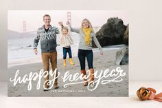 Winter Brush New Year's Photo Cards by Kristen Smith at minted.com
