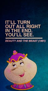 Beauty and the Beast quote; Mrs. Potts quote