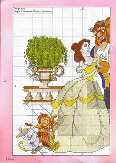Beauty and the Beast Cross Stitch 1 of 2