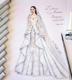 "269 Likes, 5 Comments - NataliaZ.Liu (@nataliazorinliu) on Instagram: ""#fashion #fashionillustration #eliesaab #luxury #designer #2017 #paris #art #glamour #collection…"""