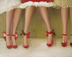 """Deck The Heels"" by Janet Hill.. Christmas cards are in!"