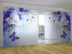 Blue Irises #Wellmira #ModernCurtains #PhotoCurtains #PanoramicCurtains #Foto Vorhänge #Foto cortinas