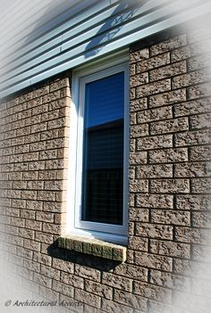 Awning Window Canyon Clay Exterior Finish With Brick Mould Windows Doors Pinterest