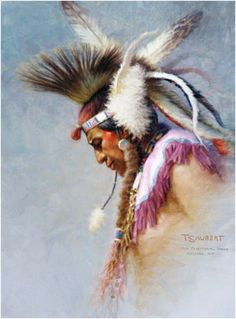 A portrait study of a Crow Traditional dancer, Red Lodge, Montana.