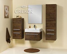 Fokus bathroom furniture - antique wood