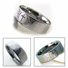 8mm Men s Tungsten Carbide Cross Wedding Band Ring Accents Kingdom   34 99Christian cross and Celtic mens tungsten wedding band in 8mm   Men  . Mens Cross Wedding Band. Home Design Ideas