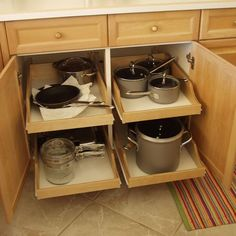 kitchen cabinets organization Pull-out shelves, shelves that slide, roll-out shelves or sliding shelves. Whatever you want to call them, they make the chore of finding t Storage Cabinets, Kitchen Renovation, Best Kitchen Cabinets, Kitchen Cabinet Storage, Kitchen Organization, Diy Kitchen Storage, Kitchen Remodel, Diy Kitchen, Kitchen Cabinet Drawers
