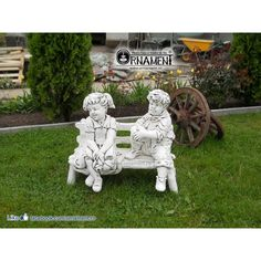Grup statuar Copii pe Bancuta Statues, Garden Sculpture, Ornaments, Outdoor Decor, Home Decor, Decoration Home, Room Decor, Effigy, Christmas Decorations