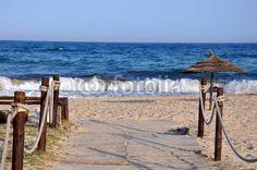 Holzsteg zum Strand
