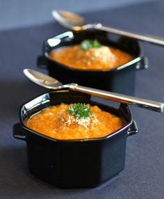roasted sweet potato and quinoa soup- minus the bread crumbs!