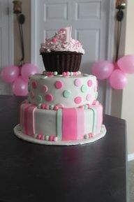 Perfect little girl's birthday cake!!