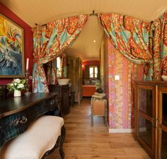 """We especially love this 182 square foot trailer called La Roulotte – it's meant to offer """"the magical atmosphere of gypsy nights"""" – I think they've accomplished this!"""