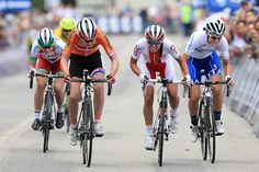 The sprint for the line at the women's Euro championships road race