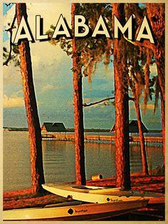 Vintage Alabama Orange Beach / Fine Art America by Flo Karp Sweet Home Alabama, Orange Beach, Vintage Travel Posters, New Wall, Fine Art America, Old Things, Wall Art, Painting, Digital Art
