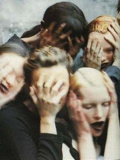 Naomi Campbell, Karen Elson, Shalom Harlow, Marie-Sophie Wilson-Carr Kirsten Owen by Peter Lindbergh