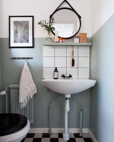 Space Saving Toilet Design for Small Bathroom - Home to Z Scandinavian Bathroom Design Ideas, Bathroom Design Small, Simple Bathroom, Modern Bathroom, Vanity Bathroom, Scandinavian Furniture, Bathroom Shelves, Bathroom Cabinets, Bathroom Designs
