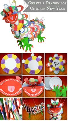 Get children involved in creating a dragon for Chinese New Year with our quick and easy guide New Year's Crafts, Diy Crafts For Kids, Holiday Crafts, Art For Kids, Arts And Crafts, Chinese New Year Dragon, Chinese New Year Party, Nouvel An Chinois Diy, Chinese New Year Activities