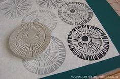 Terri Stegmiller Art Quilts: More Stamp Making
