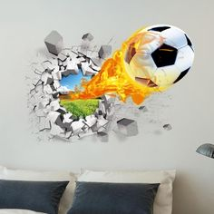 Find More Wall Stickers Information about 3D Football Wall Stickers Background Decor Removable Stickers Bedroom wallpaper for kids room home decor boy's room,High Quality wallpaper white,China wallpaper 300 Suppliers, Cheap wallpaper wall sticker from Little Lady House on Aliexpress.com