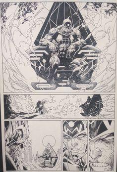 Justice League 40 pg 18 - Jim Lee, in matthew halpern's Published Art Comic Art Gallery Room