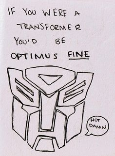 Chris still tries to explain to me the difference between Transformers & Voltron. What gives? This will be my playful reply =)