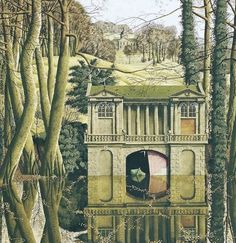 """Romantic Revival"" by Simon Palmer : ""Romantic Revival"" by Simon Palmer Landscape Illustration, Landscape Art, Landscape Paintings, Illustration Art, Abstract Paintings, Visit Yorkshire, Yorkshire Dales, Cottage Art, Art Thou"