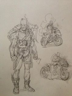Greg Capullo: Sketches prior to the launch of Zero Year.