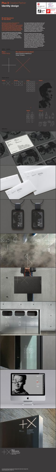 Plus X Creative Partner Identity Design by Plus X , via Behance