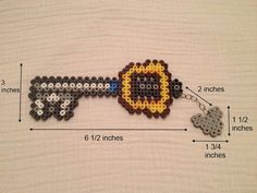 Keyblade Kingdom Hearts Perler Bead Art by ShinyFionna on Etsy, $6.00. Hmm. I do love perler beads right now. And have a bestie that loves KH