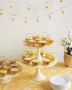 cupcakes in gold-foil liners