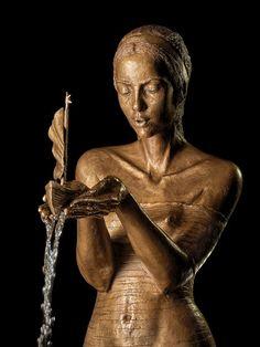 Fountains – Małgorzata Chodakowska Old London, Art Girl, Metal Working, Fountain, Statue, Photography, Design, Backyard, Girls