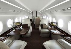 Les 17 plus beaux intérieurs de jets privés en 2013   Luxury Design