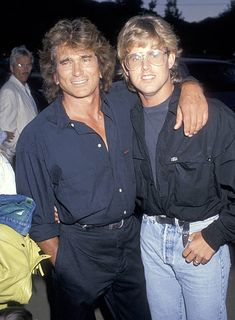 Actor Michael Landon and son Michael Landon Jr attend the Third Annual Moonlight Roundup Extravaganza to Benefit Free Arts for Abused Children on. Michael Landon, Michael Jr, Victor French, Jonathan Smith, Melissa Gilbert, Tv Westerns, Classic Tv, Celebs, Celebrities