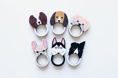 French Bulldog Wooden Ring by whimsymilieu on Etsy