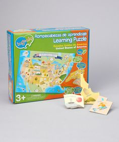 Take a look at this Smart Play USA Map Floor Puzzle by Education Station Collection on #zulily today!