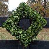 Found it at Wayfair - Boxwood Square Wreath