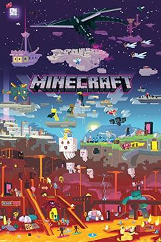 "GB Eye Maxi poster motif Minecraft ""World Beyond"", multicolore"