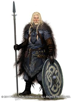 Norse, Celtic, viking Armor Male warrior with spear and shield - viking-like Asvig by *Akeiron on deviantART Viking Warrior, Art Viking, Viking Shield, Viking Men, Fantasy Male, Fantasy Armor, Medieval Fantasy, Celtic Fantasy Art, Dnd Characters